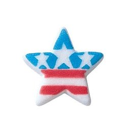 Lucks Patriotic Star Sugar Dec Ons