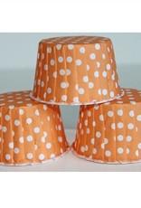 Orange Polka Dot Nut Cups