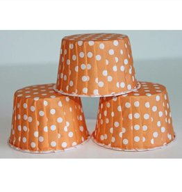 Orange Polka Dot Nut Cups