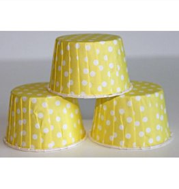 Yellow Polka Dot Nut Cups