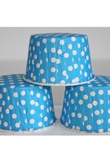 Blue Polka Dot Nut Cups
