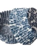 Viking Blue Damask Baking Cups