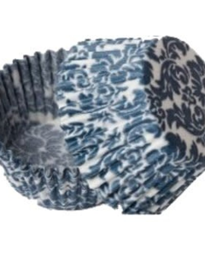 Viking Blue Damask Baking Cups