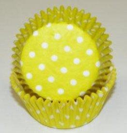 Viking Yellow Polka Dot Baking Cups