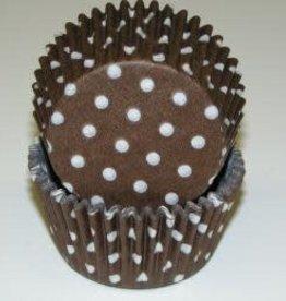 Viking Brown Polka Dot Baking Cup