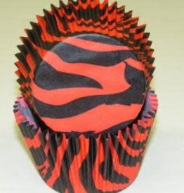 Viking Zebra (Red and Black) Baking Cups