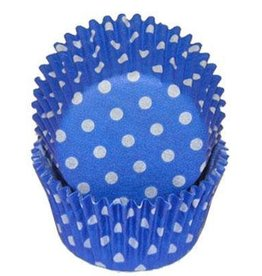 CK Blue Polka Dot Baking Cups