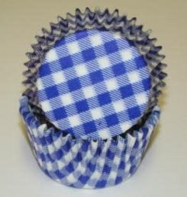 CK Blue Gingham Baking Cups