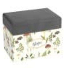 CR Gibson Mushroom Botanical Recipe File Box