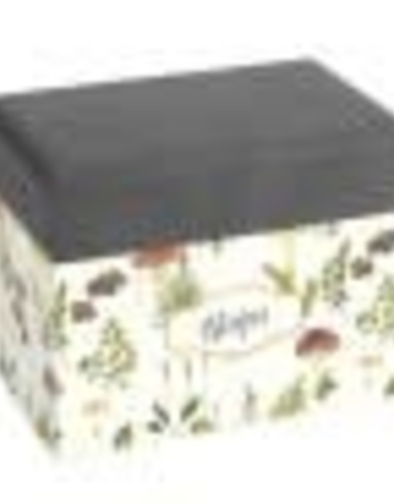 CR Gibson Mushroom Botanical Recipe File Box