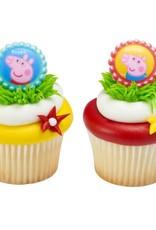 Decopac Peppa Pig Cupcake Rings (12 per pkg)