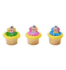 Decopac Jolly Clown Cupcake Rings (12 per pkg)
