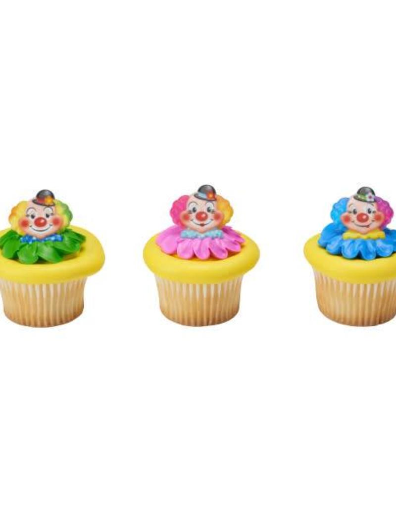Decopac Jolly Clown Cupcake Rings (12 per pkg)