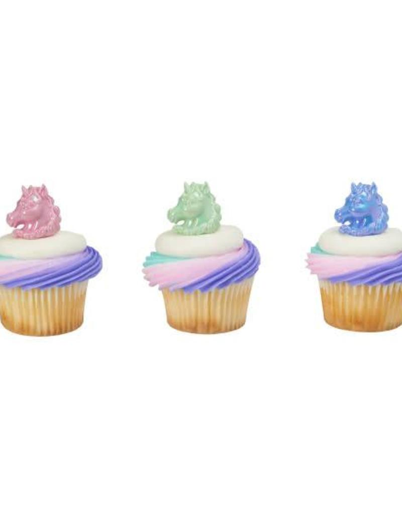 Decopac Unicorn Cupcake Rings (12 per pkg)