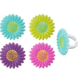 Decopac Bright Blossoms Cupcake Rings (12 per pkg)