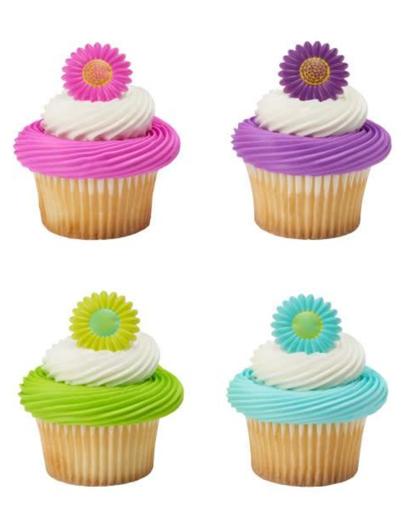 Decopac Bright Blossoms Cupcake Rings (12 per pkg)