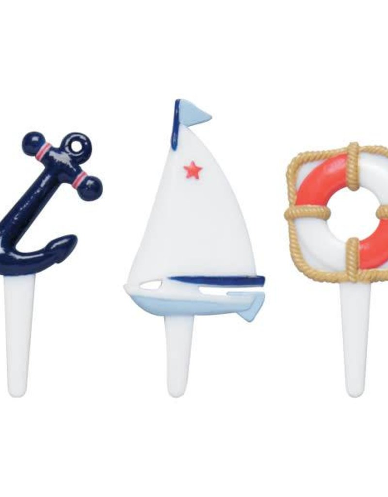 Decopac Nautical Cupcake Picks (12 per pkg)