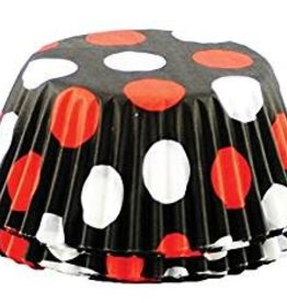 Fox Run Black W/ Red and White Dots Baking Cup