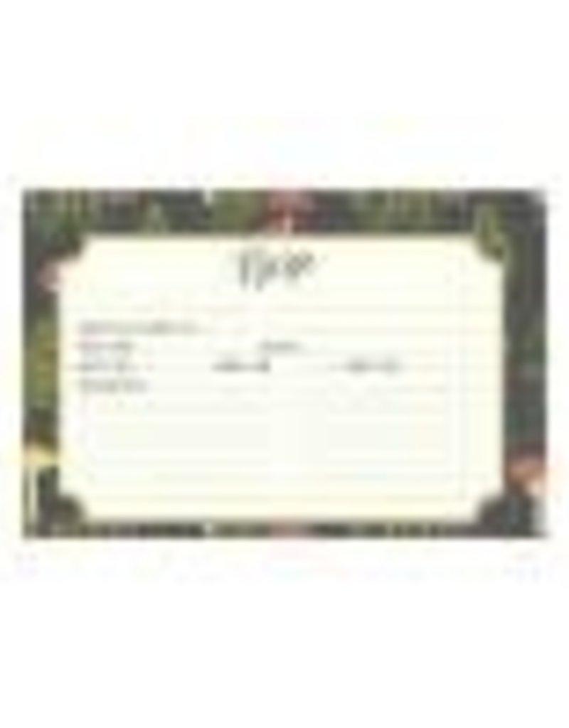 CR Gibson 4x6 Recipe Cards (Mushroom Botanical)