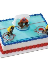 Decopac Hockey Face-Off Cake Topper