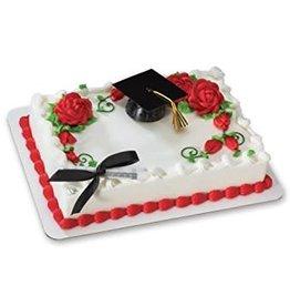Deco Pack Graduation Hat (Black) Cake Topper