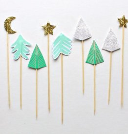 Sparkly Trees Cake Topper