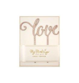 My Mind's Eye Botanical Love Wood Cake Topper
