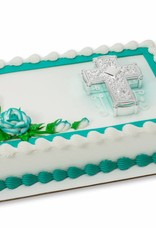 Decopac Silver Cross Cake Topper