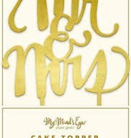 My Mind's Eye Fancy Cake Topper {Mr. & Mrs.}