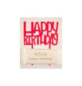 My Mind's Eye Neon Happy Birthday Cake Topper