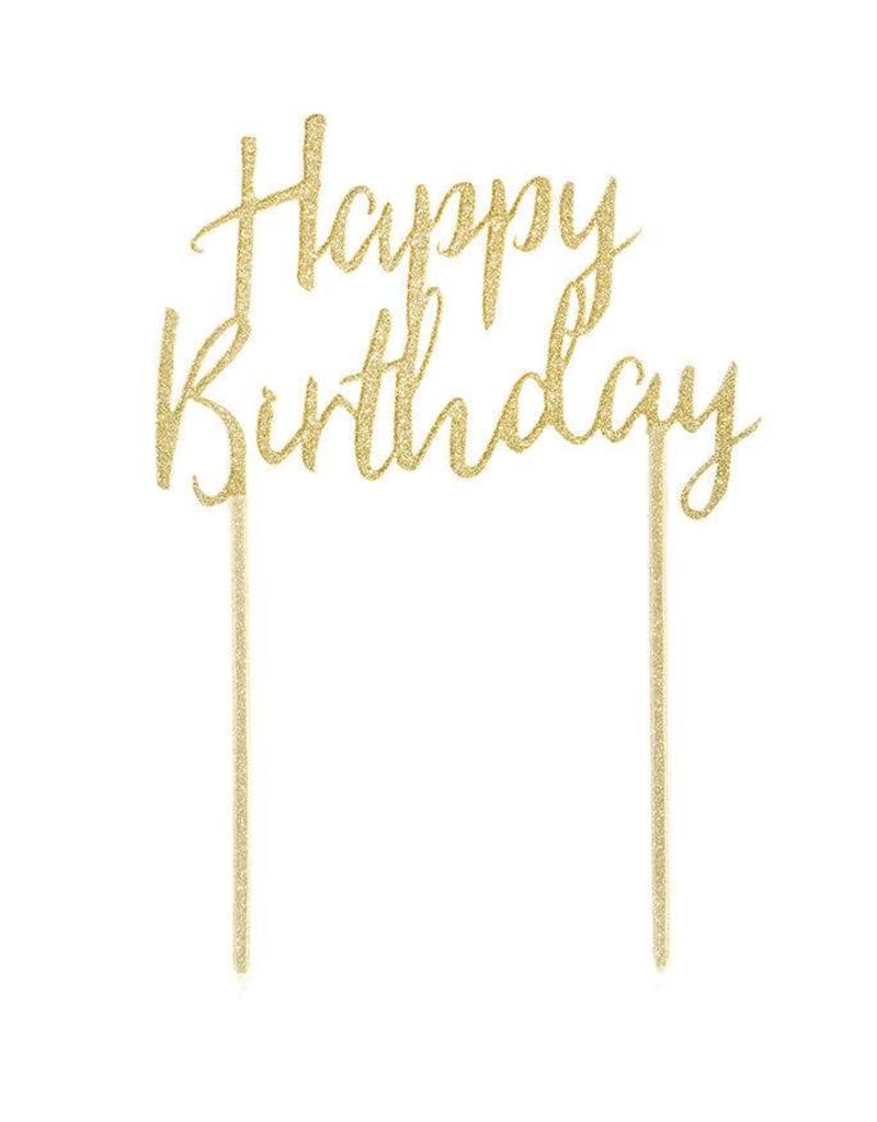 Talking Tables Acrylic Cake Topper Happy Birthday