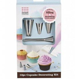 Bradshaw International Cupcake Decorating Kit 12 pc