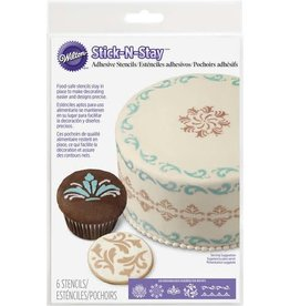 Wilton Stick and Stay Stencils (Scrolls)