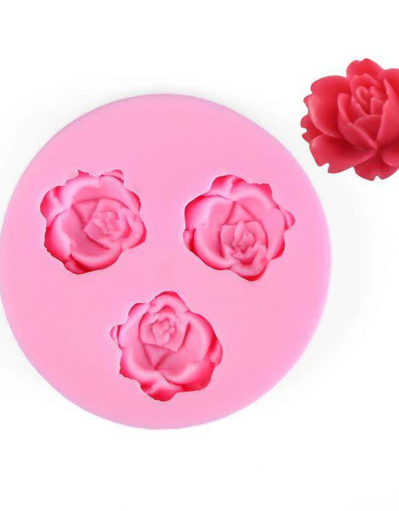 Silicone Fondant Mold (Small Rose)