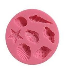 Silicone Fondant Mold (Sea Shells)
