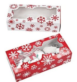 Bradshaw International Large Cookie Box 2 pk Snowflake