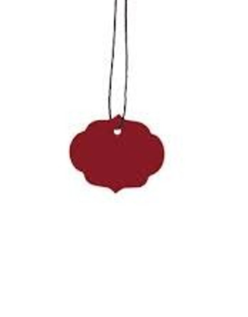 Store Supply Warehouse Ornate Oval Tags (Crimson)