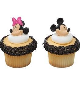 Deco Pack Mickey and Minnie Cupcake Rings