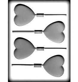 "CK Heart Hard Candy Sucker Mold (2-1/2"")"