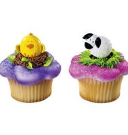 Deco Pack Chick and Lamb Cupcake Rings