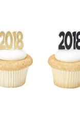 Decopac 2018 Foil Cupcake Picks (12/pkg)