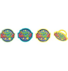 Decopac Happy Birthday Rings (12/pkg)
