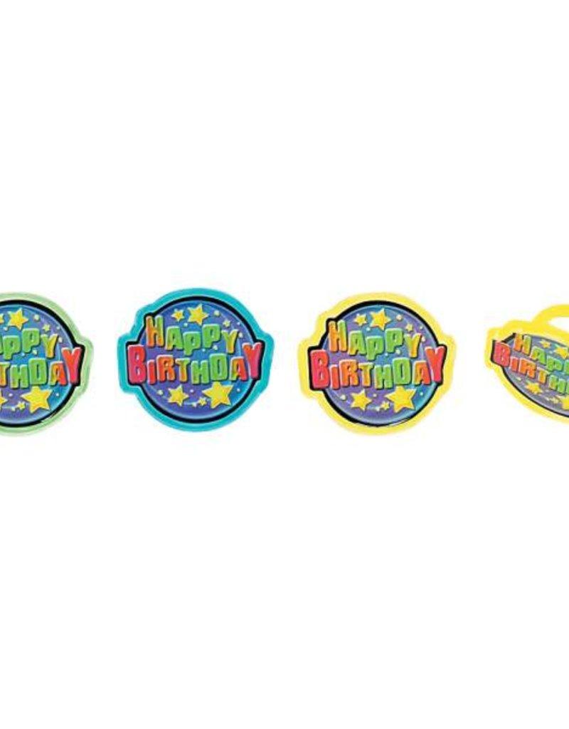 Decopac Happy Birthday Rings (12/pkg)