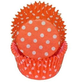 CK Orange Polka Dot Baking Cups
