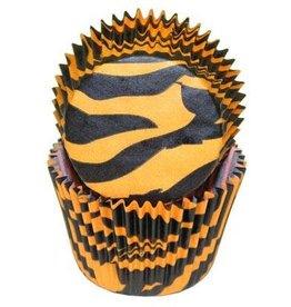 Viking Zebra (Orange and Black) Baking Cups
