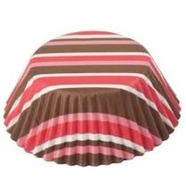 Fox Run Pink and Brown Baking Cup