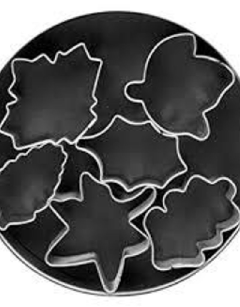 Fox Run Leaf Mini Cookie Cutter Set (6 piece)
