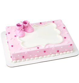 Decopac Baby Booties Cake Topper (Pink)
