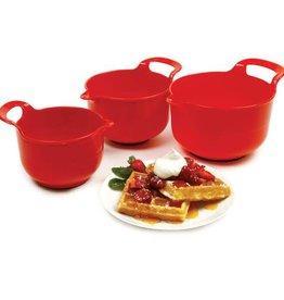 Norpro Red Mixing Bowl Set (3pc set)