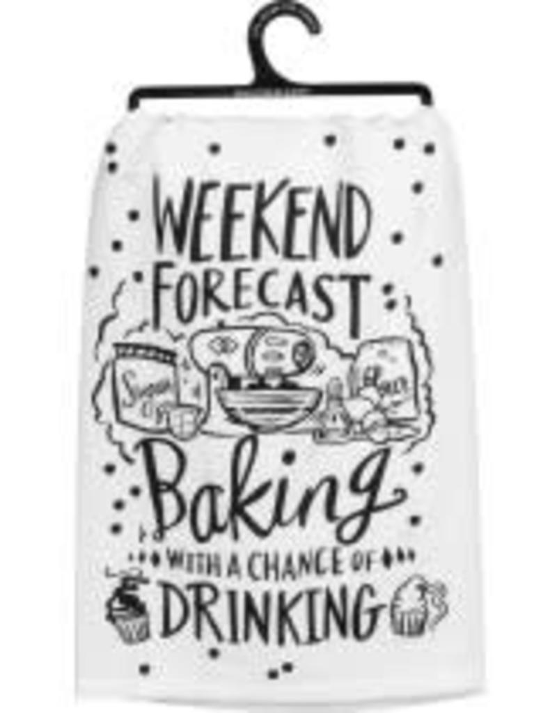 Primitives By Kathy Dish Towel - Weekend Forecast